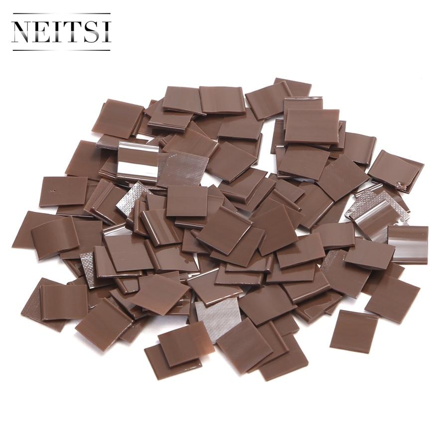 Neitsi  Italian Glue Keratin Bonding Glue For Fusion Human Hair Extensions 1cm * 1cm 1000pcs Flat Tip Adhesive 100g/pack