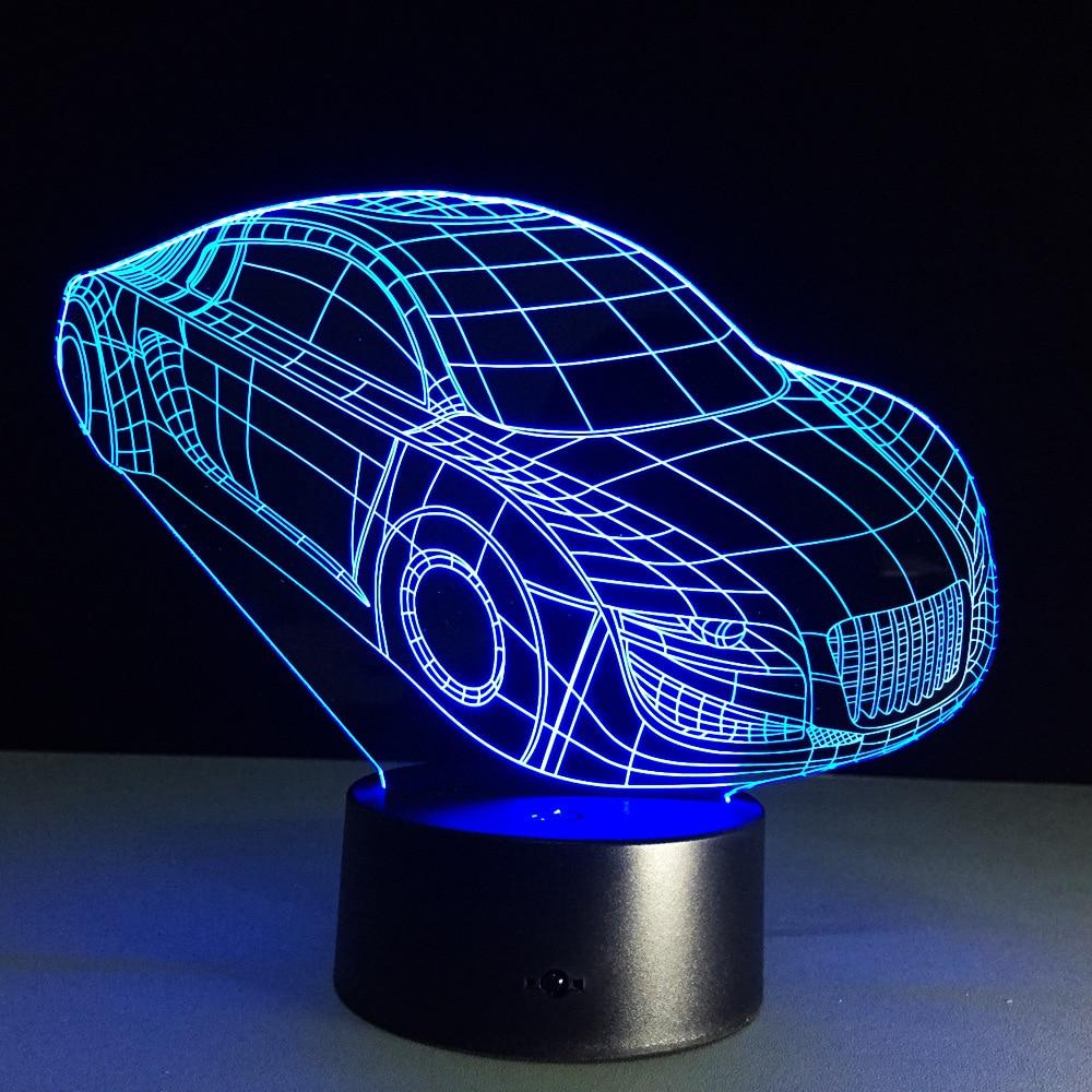 Cool Car Table Lamp 7 Colors Changing Desk Lamp 3d Lamp ...