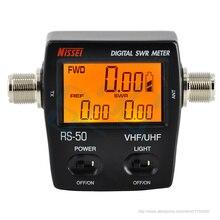 RS 50デジタルswr/ワットメーターニッセイ125 525mhz uhf/vhf m型コネクタtyt baofeng ledスクリーンラジオ電源カウンター