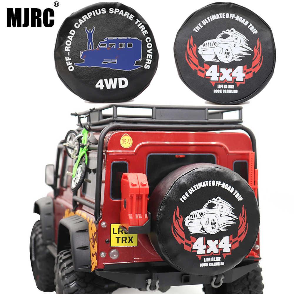 MJRC 1/10 AnalogปีนเขารถTRAXXAS TRX-4 SCX10 90046 RR10 RC4WD AXIAL 90-120 มม.ยางRacing 1.9 2.2 นิ้วฝาครอบยางอะไหล่