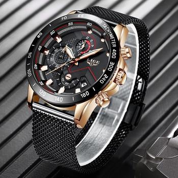 71eb679600b3 Reloj Masculino 2019 en este momento relojes para hombre marca de lujo  relojes de cuarzo de los hombres Casual delgado de acero de malla de fecha  del ...