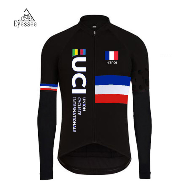 9f5917793 tour de france cycling zersey 2018 eyessee men black cycling jersey long  sleeve bike clothes