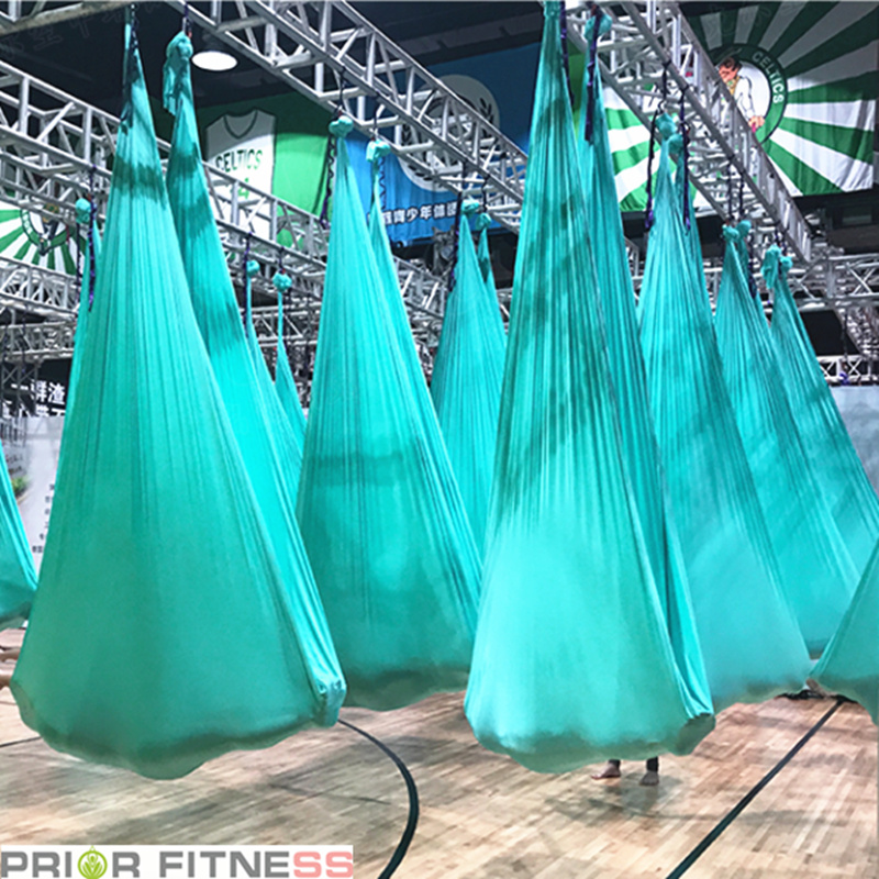 Prior Fitness Top Quality Aerial Yoga Hammock 4Mx2.8M Premium Aerial Silk Fabric Yoga Swing for Antigravity Yoga Inversion-in Yoga Belts from Sports & Entertainment    2