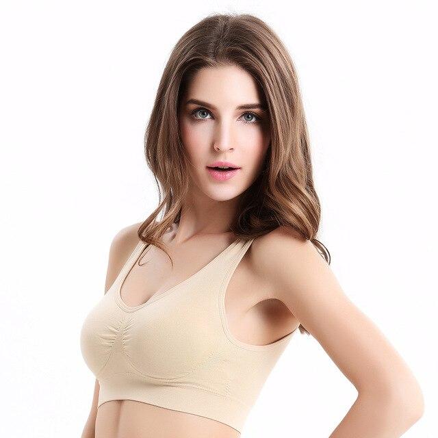 e0c77c9067 Plus Size Sexy Genie Bra with Pads Seamless Push Up Bra Underwear Wireless  Bra Solid Color Padded Bra bh Women Tops Reggiseno