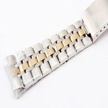купить 19MM Silver Gold Stainless Steel Oyster Fold Deployment Clasp Watch Band Strap Bracelet For Prince Series Watch Part  + Tool по цене 911.19 рублей