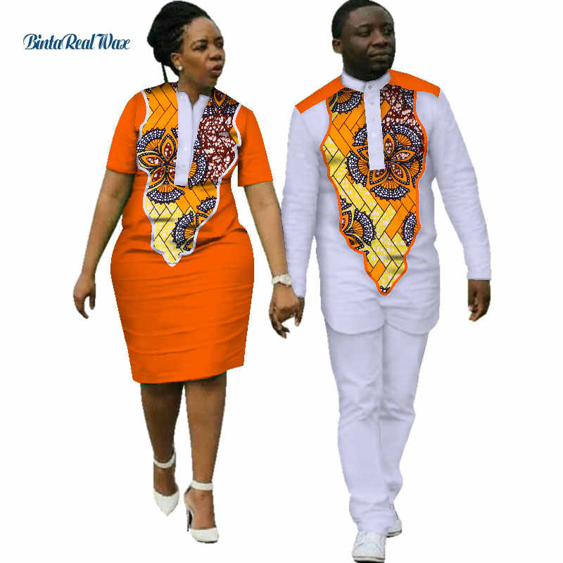 c682a9f404 ... 2018 Dashiki African Dresses for Women Bazin Riche Mens African  Clothing Top and Pants Sets Sweet ...