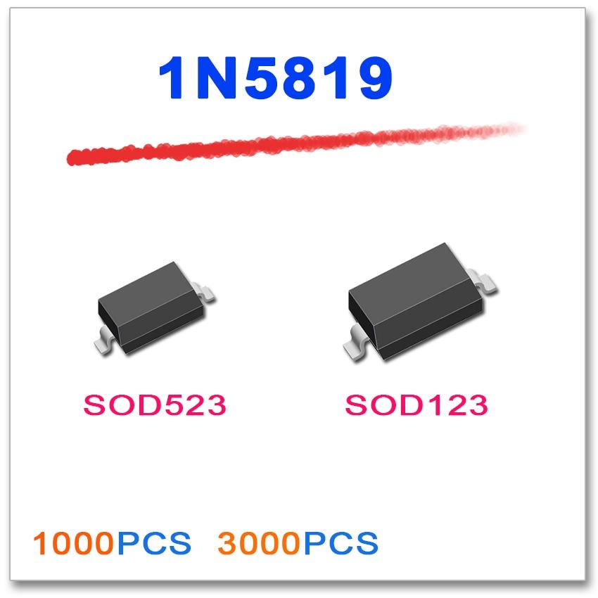 sod 523 sizes - JASNPROSMA 1N5819 SOD-123 SOD-523 1000PCS 3000PCS SOD123 SOD523 1206 5819 smd diode S4 3216 Plastic-Encapsulate