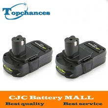 2PCS 18V 2500mAh Li-Ion Rechargeable Battery For Ryobi RB18L25 One Plus for power tools replace P103, P104, P105, P108