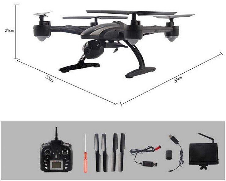 JXD 509G 509V 509W 5.8G Drone with Camera FPV Wifi RC Quadcopter with Camera Headless Mode One Key Return Real Time Video FSWB 6