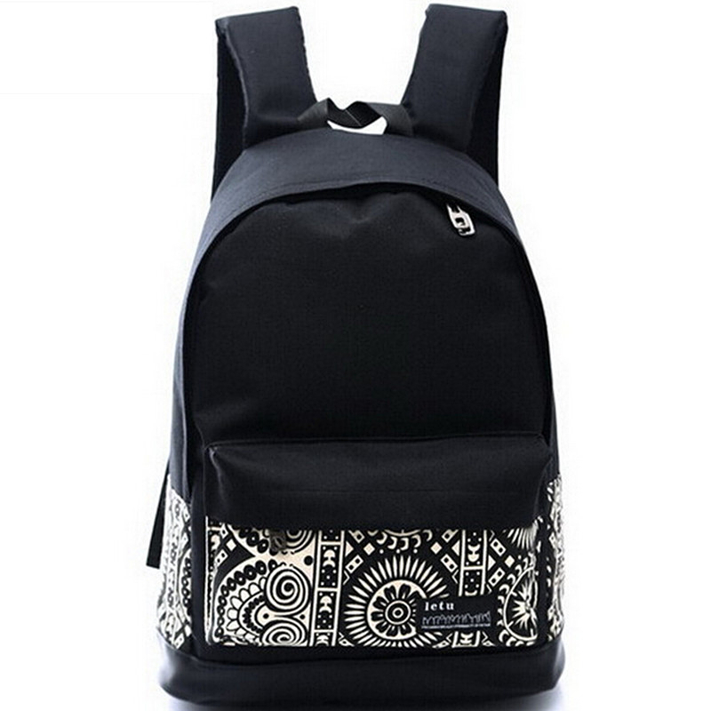 Korean Printing Women's Canvas Backpack Printed School bag for Girl Travel Mochila school backpack Rucksack
