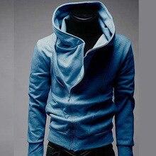 Hot Sweaters oblique zipper hooded sweater Men's Shirts