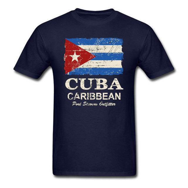 Nueva Bandera De Cuba Cuba Flag Adultos 100% Algodón Camiseta Personalizada Cuello Redondo hombres Top Tee