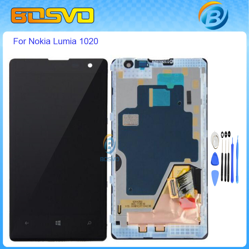 4.5 inch High quality Replacement For Nokia Lumia 1020 lcd display with touch screen digitizer with frame assembly+free tools газовые плиты