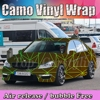 Camouflage Custom Car Sticker Bomb Camo Vinyl Wrap Car Wraps With Air Release Bomb Sticker Car