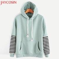 JAYCOSIN 2017 Women Long Sleeve Striped Hooded Casual Sweatshirt Pullover Hoodies Top AUG30230 drop shipping