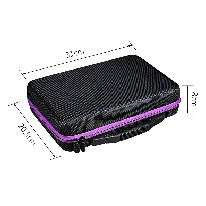Image 5 - 15ml 60 Compartments Essential Oil Storage Bag Portable Travel Essential Oil Bottle Organizer Women Perfume Oil Collecting Case-in Storage Bags from Home & Garden