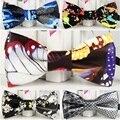 34 Cores Da Marca New Mens Fashion Impresso couro Pu Noivo arco laços de Homem bonito Bowties Gravata formal para os homens De Luxo borboleta