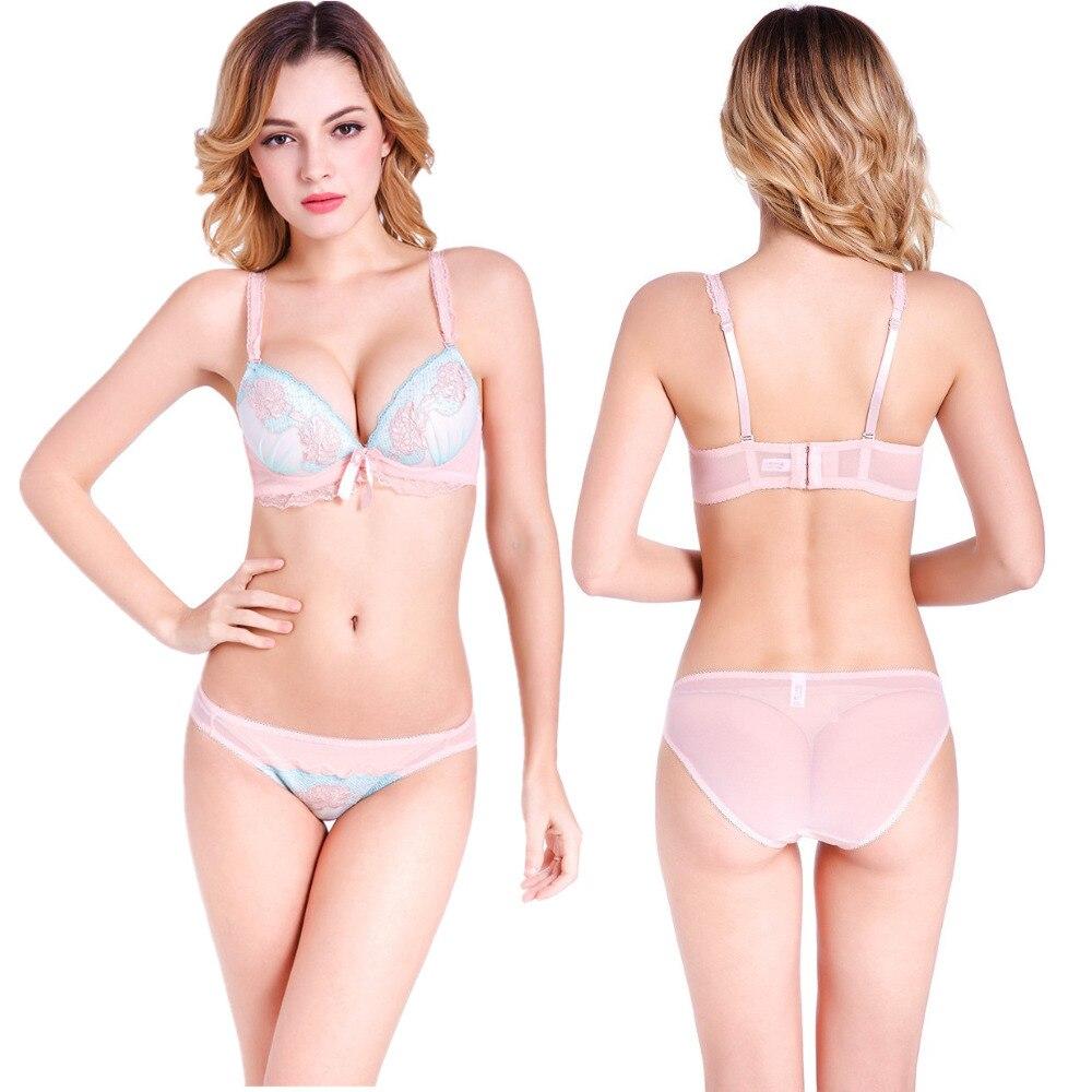 Nové příchozí Embroidey krajka podprsenka sada spodní prádlo Push up Sexy podprsenka Krásné spodní prádlo shromažďování podprsenky kalhotky Vysoce kvalitní H184