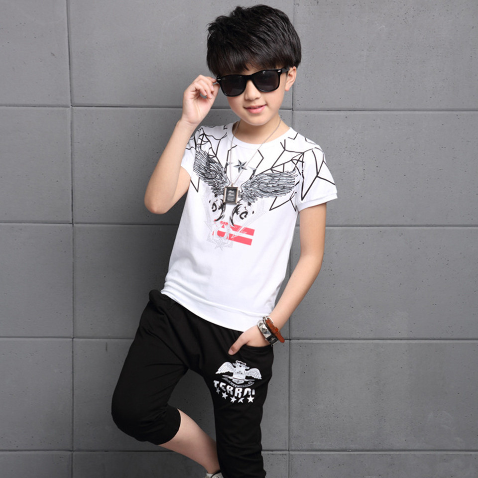 Summer Children Clothing Sets Tracksuits for Boys Sports Suit for Unisex Fashion Girls Childrens Short Sleeved T-shirt +pant