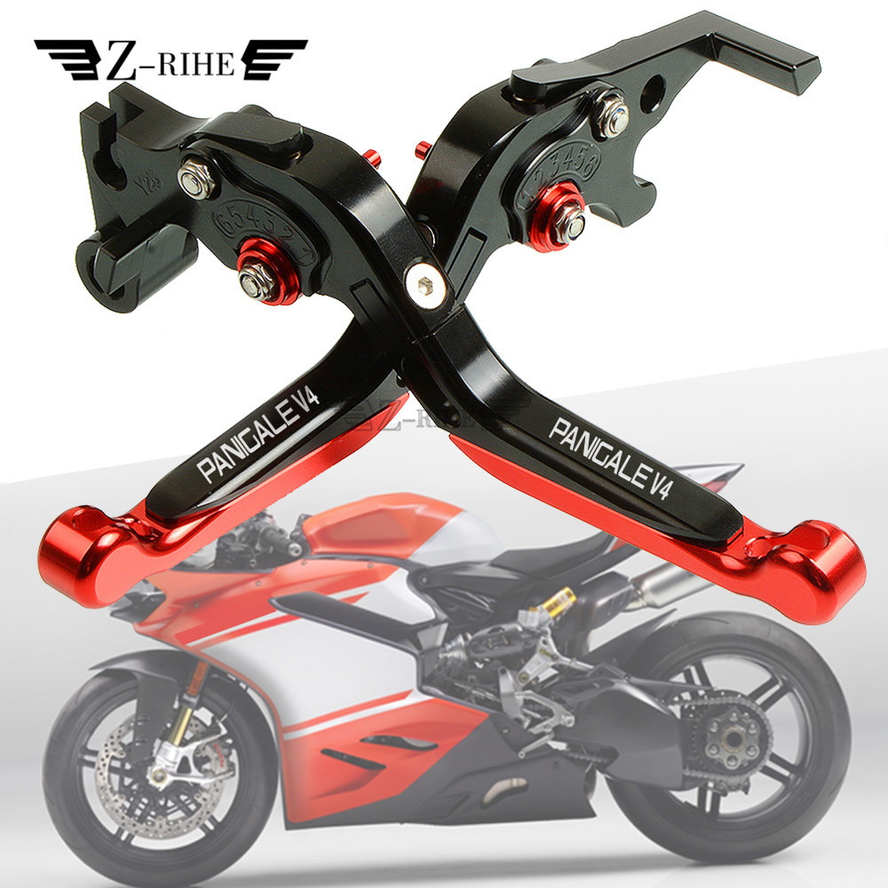 For DUCATI 959 Panigale PANIGALE V4 2016-2019 2018 New CNC Motorcycle Adjustable Foldable Extendable Brake Clutch Levers cnc adjustable motorcycle billet foldable pivot extendable clutch page 1