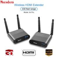 Measy воздуха Pro 100 м/330FT 2,4 ГГц/5,8 ГГц Беспроводной Wi Fi HDMI аудио видео удлинитель передатчик отправителя приемник комплект с ик сигнала
