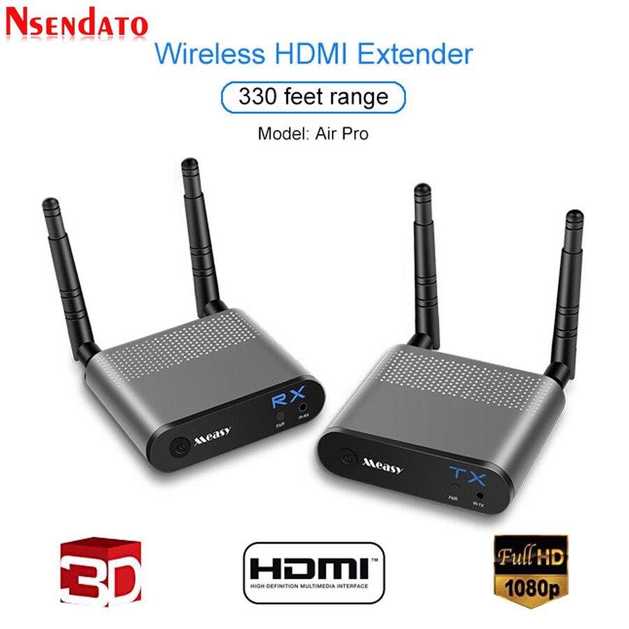 Measy Air Pro 100 m/330FT 2.4 ghz/5.8 ghz Sans Fil Wifi HDMI Audio Vidéo Extender Émetteur Expéditeur récepteur Kit Avec IR Signal