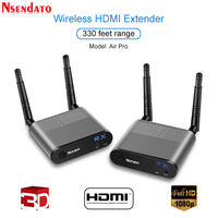 Measy Air Pro 100M/330FT 2.4GHz / 5.8 GHz Wireless Wifi HDMI Audio Video Extender Transmitter Sender Receiver Kit With IR Signal