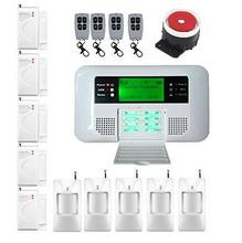 low price English Russian Spanish voice wireless gsm alarm systems security home pstn alarm system with LCD keyboard