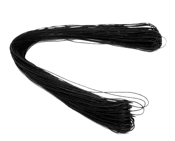 Doreen Box Lovely 80M Wholesale Black Waxed Cotton Necklace Cord For DIY Jewelry Making 1mm (B07405)