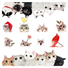 5 Sheets Cut Cats Scrapbooking Sticker Phone Resin Fillings Silicone Case DIY Jewelry Mold Tools Stickers