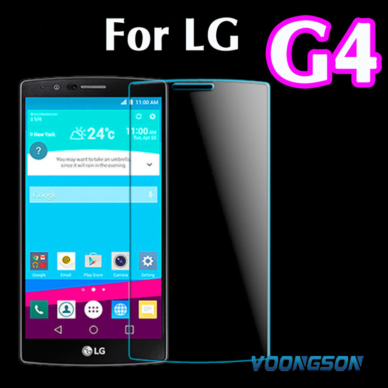 VOONGSON G 4 Premium Tempered Glass For lg g4 h818 lg4 H815 H810 F500 VS999 With Retail Box Screen Anti Shatter Protector Film in Phone Screen Protectors from Cellphones Telecommunications