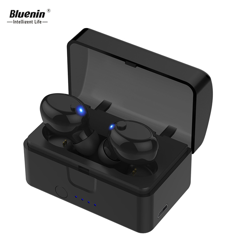 Bluenin True Wireless Earbuds Mini Bluetooth Headset IPX5 Sweatproof Invisible Sport In Ear Earphones with Mic for j7 prime ep52 sagotws k5s wireless headphone bluetooth earbuds mini sweatproof sport headsets bluetooth earphones with mic for iphone samsung
