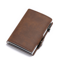 BYCOBECY Card Holder 2019 New Vintage Wallet RFID Slim Suitcase Business Luxury Case Anti-theft Drop-shipping