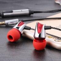 2017 Nowy SKW DIY hongmi UWAGA W Ucho Zestaw Słuchawkowy Słuchawki Earplug wysokiej Klasy Ziem Rzadkich z 3.5mm wtyczką audio jack dla smartphone linia