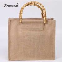 b3f999a1d8ff Arsmundi высококачественные женские мужские сумки, хлопковые складные  многоразовые сумки для покупок, косметичка на плечо