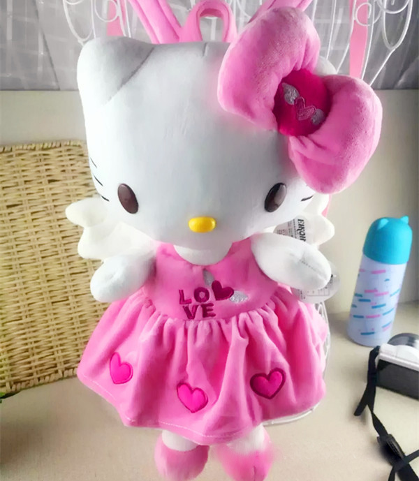 ad18abb279f Backpack Kids Kitty Baby Plush Backpack Cute Cartoon Hello Kitty Cat Backpack  Children Plush Animals Soft Toy School Bag 1 3y-in Plush Backpacks from Toys  ...