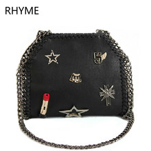 RHYME Stella Women Shoulder Bag PU Falabellas Clutch with 3 Chains Lipstick Evening Socialite Tote Fashion Star Sac Lady Handbag