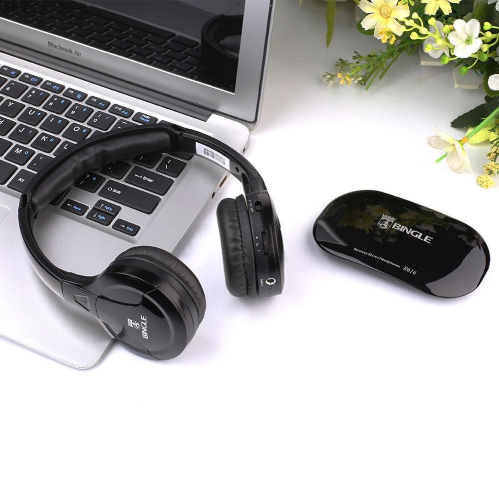 Wireless FM Headset Cordless Headphone wireless For TV PC Computer gaming Earphone with headset Casque wireless 2017 brand new multifunction 5 in 1 cordless headphone fm wireless headset earphone for mp4 mp3 pc tv ipod auriculares mikrafon