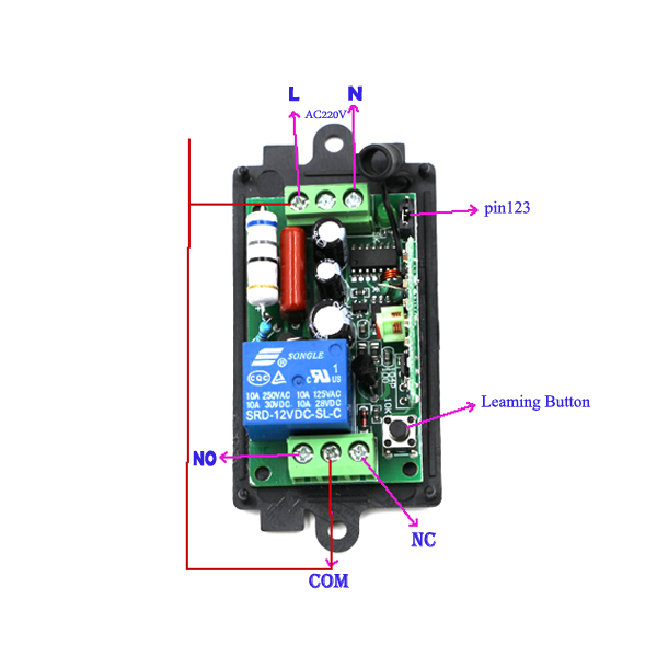 220 Volts Wireless Remote Light Switch Control Rf 1ch Relay Teleswitch In Switches From Lights Lighting On Aliexpress