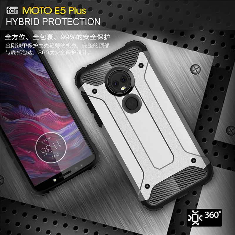 Shockproof Shell For Motorola Moto E5 Plus Case Armor Hard Mobile Phone Case MOTO e5 E 5 E5plus Cover Hybrid Protective Back