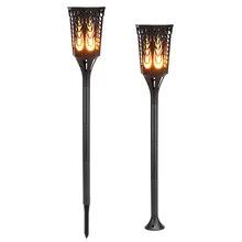 2 шт солнечный Перезаряжаемые Светодиодный лампа водонепроницаемый садовые фонари IP65 факелы Танцы Flame свет для газон сад двор подъездных дорожек