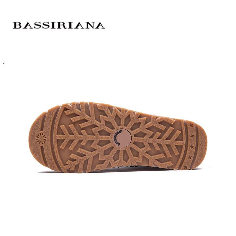 Bassiriana Mới 2017 Trắng Đen Cổ Chân Giày Cho Nữ Trang Trí Kim Loại Thời Trang Nữ Gợi Cảm Giày Mùa Đông Giày Đế Giày
