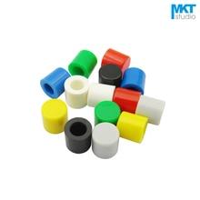 Цветные колпачки для переключателей 6*6 мм, 1000 шт., тактильный переключатель, красный, зеленый, синий, желтый, белый, черный, серый