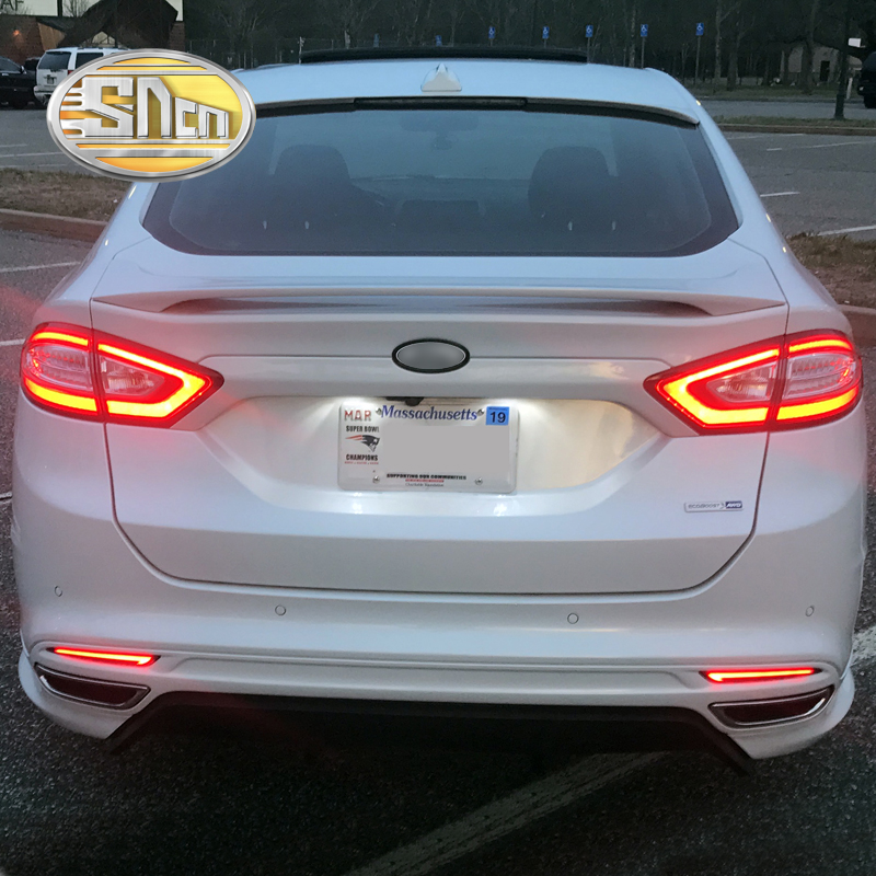 For Ford Mondeo Fusion 2013 - 2016 SNCN Multi-function LED Bumper Light Rear Fog Lamp Brake Light Turn Signal Light Reflector