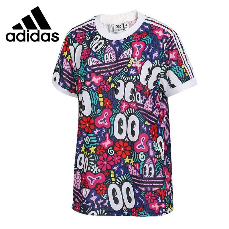 Original New Arrival  Adidas Originals  3 STRIPES TEE  Womens  T-shirts  short sleeve Sportswear  Original New Arrival  Adidas Originals  3 STRIPES TEE  Womens  T-shirts  short sleeve Sportswear