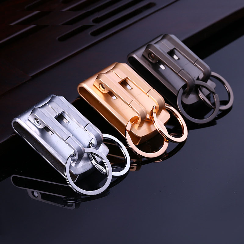 hanging keychain key ring double loops key chain key holder clip on belt high quality sleutelhanger chaveiro llaveros hombrehanging keychain key ring double loops key chain key holder clip on belt high quality sleutelhanger chaveiro llaveros hombre
