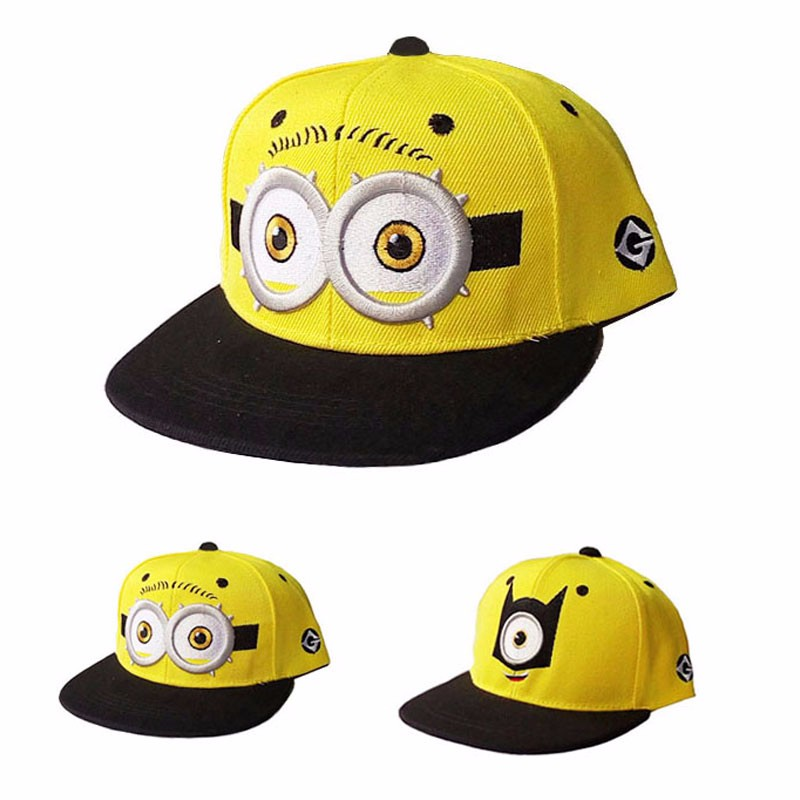 4c417f216 2019 2016 Baseball Cap Children Gorras Yellow Cartoon Minions Casquette God  Steal Dads Film Canvas Flat Snapback Hip Hop Hat From Lhxm, &Price; | ...