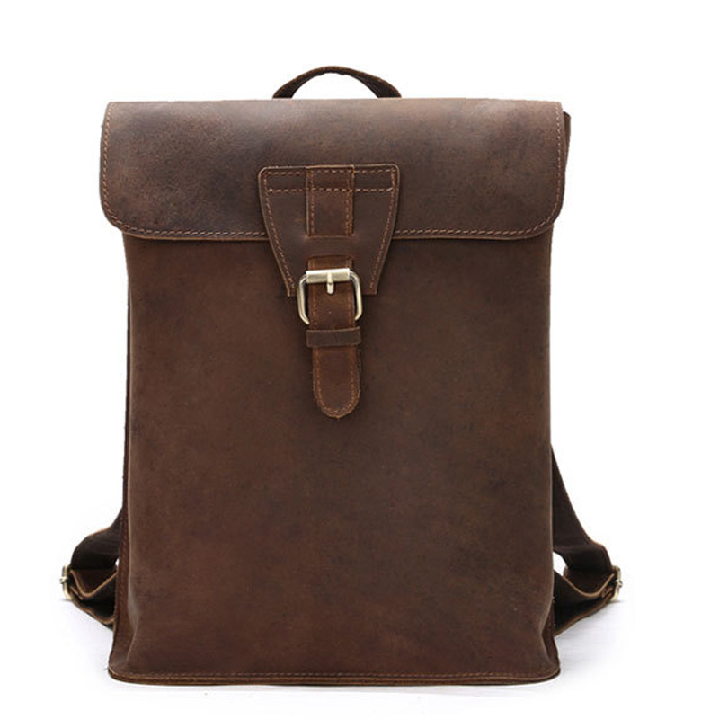 New Vintage Backpack Designer High Quality Leather Backpacks For Teenage Girls Female School Tophandle Shoulder Bag LS019