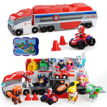 Paw patrol toys set action figure psi dog anime  paw birthday everest patrulla canina Bus rescue car toy