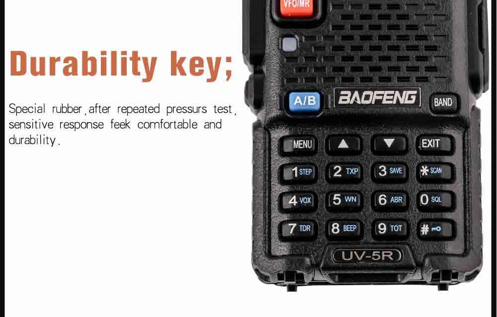 2Pcs BaoFeng UV-5R Walkie Talkie VHFUHF136-174Mhz&400-520Mhz Dual Band Two way radio Baofeng uv 5r Portable Walkie talkie uv5r (16)